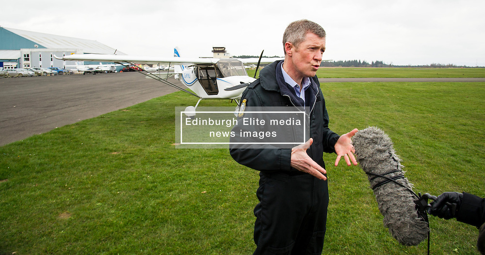 Pictured: Willie Rennie<br /> Scottish Liberal Democrat leader Willie Rennie took to the skies as he joined the UK Civil Air Patrol for a training flight in Perth. Mr Rennie took the opportunity to set out Liberal Democrat plans to restore local accountability and decision making within Police Scotland. The UK Civil Air Patrol provides airborne assistance for agencies, groups or individuals who would otherwise not have access to such a facility.  Until 2013 the service regularly assisted Police officers with air searches in missing person cases. This ended following the creation of Police Scotland.  <br /> Ger Harley | EEm 12 April 2016