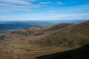 Landscape view from the summit of Pen Y Fan across the Brecon Beacons National Park, Wales, Powys, United Kingdom. Pen Y Fan is the highest point in the Brecon Beacons hill and mountain range in South Wales. The National Park was established in 1957 due to the spectacular landscape which is rich in natural beauty.  (photo by Andrew Aitchison / In pictures via Getty Images)