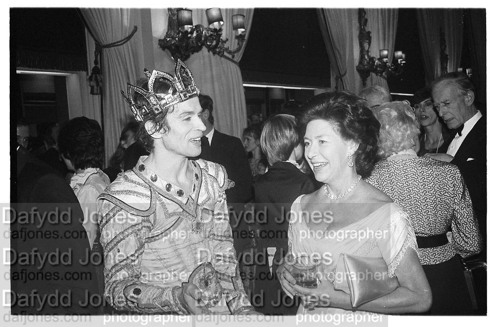 Rudolf Nureyev and Princess Margaret at Royal Opera house party, 2.12.82© Copyright Photograph by Dafydd Jones 66 Stockwell Park Rd. London SW9 0DA Tel 020 7733 0108 www.dafjones.com