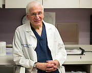Dr. Edward Messing, Chairman of the Urology Department at University of Rochester Medical Center in Rochester, New York on Thursday, May 28, 2015. Due to a drug shortage, Dr. Messing is unable to supply all of his bladder cancer patients with BCG, a drug that is considered an effective treatment for early-stage bladder cancer. CREDIT: Mike Bradley for The Wall Street Journal<br /> SHORTAGE_DR