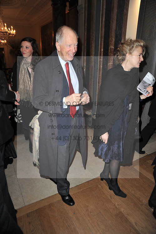 LORD ROTHSCHILD at a private view of the Royal Academy's Modern British Sculpture exhibition held at Burlington House, Piccadilly, London on 18th January 2011.
