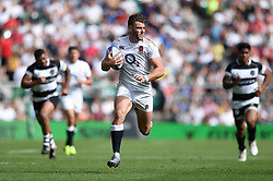 Johnny Williams of the England XV goes on the attack - Mandatory byline: Patrick Khachfe/JMP - 07966 386802 - 02/06/2019 - RUGBY UNION - Twickenham Stadium - London, England - England XV v Barbarians - Quilter Cup International