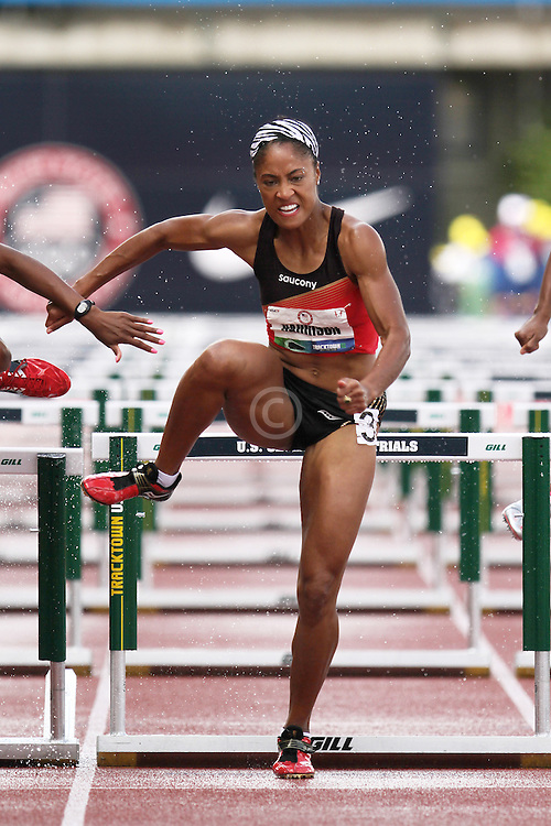 Olympic Trials Eugene 2012: womens' 100 meter hurdles, Queen Harrison,