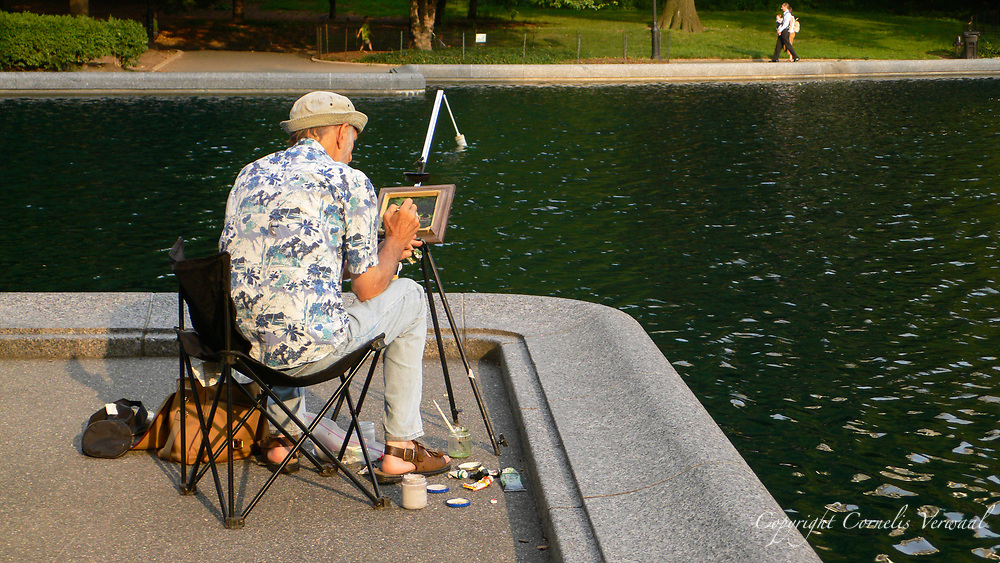 Painter at the Sailboat Pond