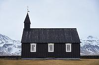 Búðakirkja black church at Búðir, Snæfellsnes Peninsula, West Iceland.