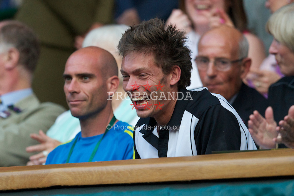 LONDON, ENGLAND - Saturday, June 26, 2010: Marathon man Nicolas Mahut (FRA) in the Royal Box during the Gentlemen's Singles 3rd Round on day six of the Wimbledon Lawn Tennis Championships at the All England Lawn Tennis and Croquet Club. (Pic by David Rawcliffe/Propaganda)