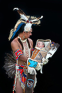 Baby Coley Kakols Miller,Levi Black Wolf,from Pendelton,Yakama Nation,Warm Springs Pow Wow,Oregon,USA.(Model release 0102)