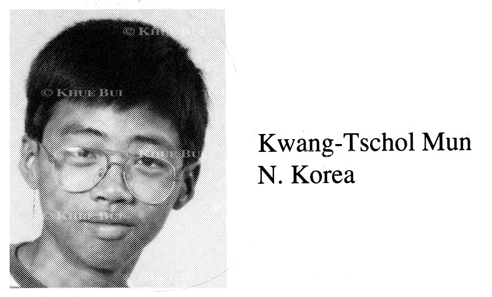 Kwang-Tschol Mun is shown in his fifth grade class photo in the International School of Berne in Switzerland yearbook photo, Odyssey 1994.  Kwang-Tschol is believed to be the minder for the two youngest sons of Kim Jong-il, leader of North Korea.  Kwang-Tschol is remembered in the yearbook as 'fun'.