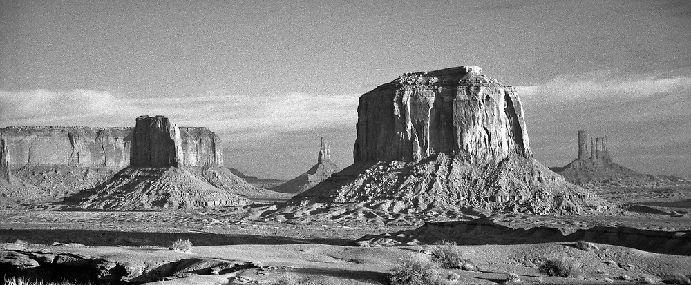 The iconic Southwestern landscape of so many of John Ford's Westerns