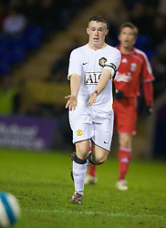 WARRINGTON, ENGLAND - Tuesday, February 26, 2008: Manchester United's Sam Hewson in action against Liverpool during the FA Premiership Reserves League (Northern Division) match at the Halliwell Jones Stadium. (Photo by David Rawcliffe/Propaganda)