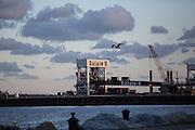 Calais harbor, the door to UK