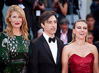 Venice, Italy, 29th August 2019, Laura Dern, Director Noah Baumbach and Scarlett Johansson at the gala screening of the film Marriage Story  at the 76th Venice Film Festival. Doreen Kennedy / Alamy Live News