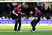 Wicket - Tom Abell of Somerset celebrates taking the wicket of Kyle Abbott of Hampshire during the Royal London 1 Day Cup Final match between Somerset County Cricket Club and Hampshire County Cricket Club at Lord's Cricket Ground, St John's Wood, United Kingdom on 25 May 2019.