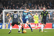 Wycombe Wanderers Midfielder Luke O'Nien (17) and Carlisle United Midfielder Mike Jones (8) battle for the ball during the EFL Sky Bet League 2 match between Wycombe Wanderers and Carlisle United at Adams Park, High Wycombe, England on 3 February 2018. Picture by Stephen Wright.