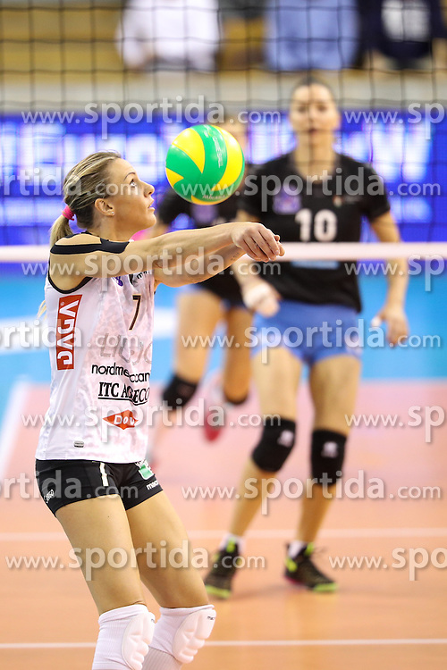 Francesca Marcon of Liu Jo Nordmeccanica Modena during the volleyball match between Calcit Ljubljana and  Liu Jo Nordmeccanica Modena at 2017 CEV Volleyball Champions League, Women, League Round, on November 01, 2016, in Hala Tivoli, Ljubljana, Slovenia.  Photo by Morgan Kristan / Sportida