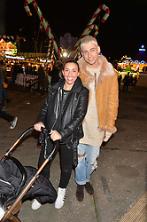 KYLE DE'VOLLE and MELANIE BLATT at the Hyde Park Winter Wonderland - VIP Preview Night, Hyde Park, London on 17th November 2016.