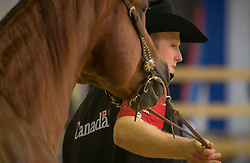 Matthew Hudson, (CAN), Its All About Smart - Horse Inspection Reining  - Alltech FEI World Equestrian Games™ 2014 - Normandy, France.<br /> © Hippo Foto Team - Dirk Caremans<br /> 25/06/14