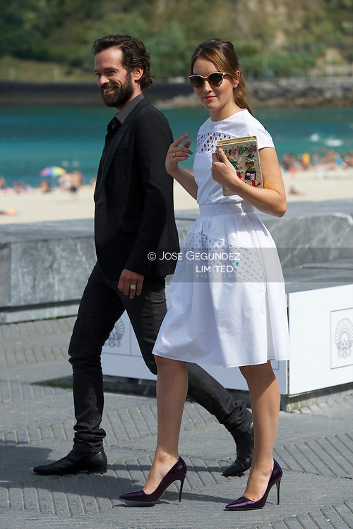 Anais Demoustier and Romain Duris attend 'Une nouvelle amie' (The new girlfriend) Photocall during the 62nd San Sebastian International Film Festival at the Kursaal Palace on September 20, 2014 in San Sebastian, Spain.