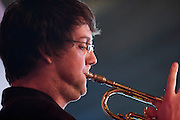 Robbie Robson on Trumpet with the Tom Richards Orchestra at the Friday Tonic concert in 2008. Frontroom, Queen Elizabeth Hall, Southbank Centre, London