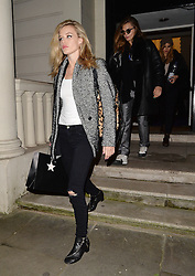 Models Georgia May Jagger, Cara Delevingne and Suki Waterhouse leaving a Vogue shoot in West London, UK. 21/01/2015<br />