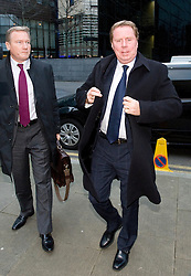 © Licensed to London News Pictures. 23/01/2012. London, UK.  Harry Redknapp (right), Manager of Tottenham Hotspur FC arriving at Southwark Crown Court on January 23rd, 2012. Redknapp faces two counts of cheating the public revenue. Charges relate to the payment of $295k from Milan Mandaric to Harry Redknapp via a bank account in Monaco, evading tax and national insurance while the pair were at Portsmouth Football Club Photo credit : Ben Cawthra/LNP