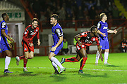 Roarie Deacon of Crawley Town celebrates the winning goal 2-1 during the Sky Bet League 2 match between Crawley Town and Stevenage at the Checkatrade.com Stadium, Crawley, England on 26 December 2015. Photo by Phil Duncan.