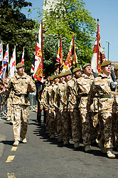 Freedom Parade 3rd Battalion The Yorkshire Regiment Barnsley South Yorkshire  22 June 2010 .Images © Paul David Drabble.