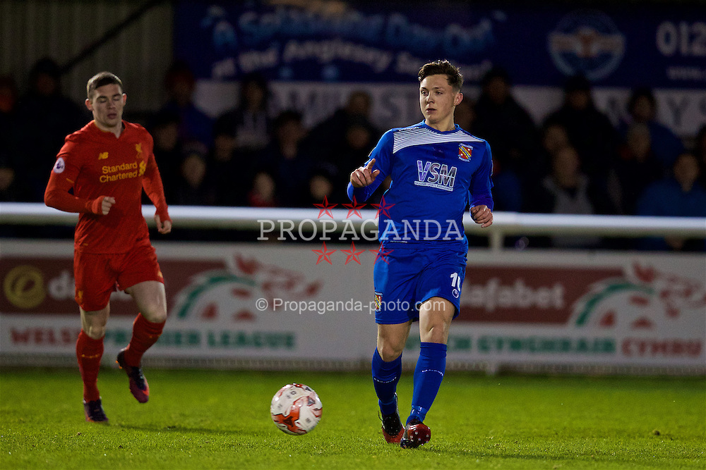 BANGOR, WALES - Wednesday, January 4, 2017: Bangor City's Danny Gosset in action against Liverpool during an Under-23 friendly match at Bangor University Stadium. (Pic by David Rawcliffe/Propaganda)