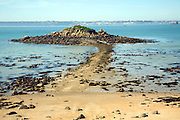 Hermetier isle and causeway Island of Herm, Channel Islands, Great Britain