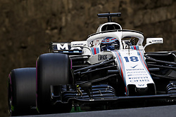 April 28, 2018 - Baku, Azerbaijan - STROLL Lance (can), Williams F1 Mercedes FW41, action during the 2018 Formula One World Championship, Grand Prix of Europe in Azerbaijan from April 26 to 29 in Baku  (Credit Image: © Hoch Zwei via ZUMA Wire)