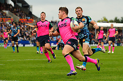 Cardiff Blues Winger (#11) Harry Robinson runs in to score a try during the second half of the match - Photo mandatory by-line: Rogan Thomson/JMP - Tel: 07966 386802 - 13/10/2013 - SPORT - RUGBY UNION - Sandy Park, Exeter - Exeter Chiefs v Cardiff Blues - Heineken Cup Round 1.