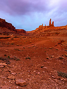 Image of the Zen & Muse, a stunning rock formation in a remote section of the Island in the Sky District of Canyonlands National Park, San Juan County, Utah, USA.