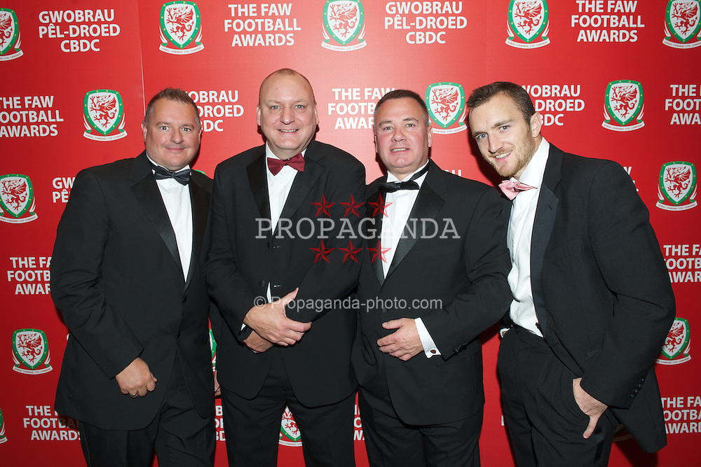 CARDIFF, WALES - Monday, October 8, 2012: Wales' xxxx during the FAW Player of the Year Awards Dinner at the National Museum Cardiff. (Pic by David Rawcliffe/Propaganda)