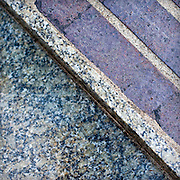 Granite stormwater overflow channel detail of stormwater facilities, PSU Urban Plaza, Portland State University, Portland, Oregon.