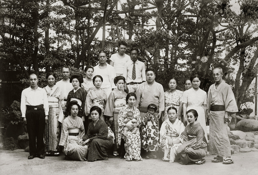 group photo Japan early 1930s