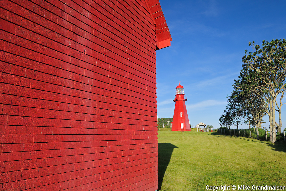 Lighthouse and lightkeepers's house<br /> La Martre<br /> Quebec<br /> Canada