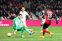 Goal Christophe MANDANNE - 03.12.2014 - Guingamp / Caen - 16eme journee de Ligue 1 <br />Photo : Vincent Michel / Icon Sport