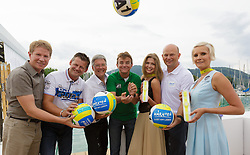 29.07.2014, Klagenfurt, Strandbad, AUT, A1 Beachvolleyball Grand Slam 2014, im Bild Ing. Herbert Taschek, Bürgermeister Christian Scheider, Landeshauptmann Mag. Dr. Peter Kaiser, Hannes Jagerhofer, Christian Kresse // during the A1 Beachvolleyball Grand Slam at the Strandbad Klagenfurt, Austria on 2014/07/29. EXPA Pictures © 2014, EXPA Pictures © 2014, PhotoCredit: EXPA/ Mag. Gert Steinthaler