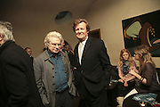 Tony Bicat and David Hare, Party to launch High Tide Writers Festival which will be held in Halesworth, Suffolk. Adam St. Club. 10 January 2007.  -DO NOT ARCHIVE-© Copyright Photograph by Dafydd Jones. 248 Clapham Rd. London SW9 0PZ. Tel 0207 820 0771. www.dafjones.com.