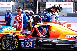 June 17, 2017 - Le Mans, Sarthe, France - CEFC Manor TRS Racing Oreca 07 rider TOR GRAVES.(GBR) on the grid before the race of the 24 hours of Le Mans on the Le Mans Circuit - France (Credit Image: © Pierre Stevenin via ZUMA Wire)