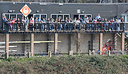 Chiswick; Great Britain; Crowds on the Tideway Scullers School Boat house balcony. 2009 Head of the River Race, race Mortlake to Putney,  Sat 21.03.2009. [Mandatory Credit. Peter Spurrier/Intersport Images]