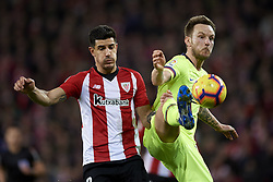 February 10, 2019 - Bilbao, Vizcaya, Spain - Ivan Rakitic of Barcelona  and Kenan Kodro of Athletic during the week 23 of La Liga between Athletic Club and FC Barcelona at San Mames stadium on February 10 2019 in Bilbao, Spain. (Credit Image: © Jose Breton/NurPhoto via ZUMA Press)