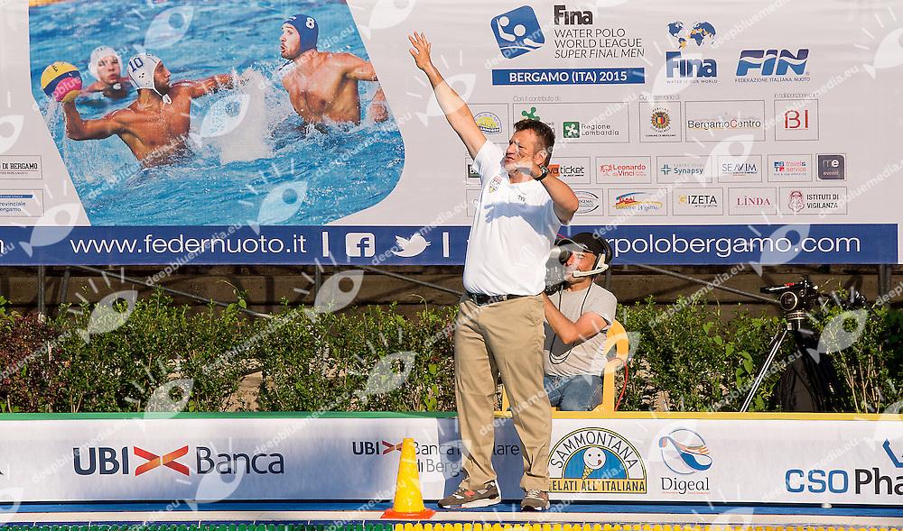 Dejan Udovicic Coac Team Usa<br /> Australia AUS (white) - United States USA (blue)<br /> day 02 - 24/06/2015<br /> FINA Water Polo World League Superfinal Men<br /> Bergamo (ITA) 23-28 June 2015<br /> Photo G.Scala/Deepbluemedia
