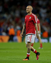 TOULOUSE, FRANCE - Monday, June 20, 2016: Wales David Cotterill celebrates his side's 3-0 victory over Russia and qualification for the knock-out stage during the final Group B UEFA Euro 2016 Championship match at Stadium de Toulouse. (Pic by David Rawcliffe/Propaganda)