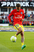Neymar da Silva Santos Junior - Neymar Jr (PSG) at warm up with the ball during the French championship L1 football match between EA Guingamp v Paris Saint-Germain, on August 13, 2017 at the Roudourou stadium in Guingamp, France - Photo Stephane Allaman / ProSportsImages / DPPI