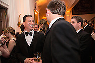 Comedian and host Jimmy Kimmel, left, attends the Bloomberg Vanity Fair White House Correspondents' Association dinner afterparty at the residence of the French Ambassador on Saturday, April 28, 2012 in Washington, DC. Brendan Hoffman for the New York Times