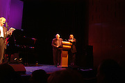 John Fortune, Clive James and Anthony Holden, For One Night Only...Fundraiser For the South Bank Centre. Purcell Room, Royal Festival Hall.4 December  2005. ONE TIME USE ONLY - DO NOT ARCHIVE  © Copyright Photograph by Dafydd Jones 66 Stockwell Park Rd. London SW9 0DA Tel 020 7733 0108 www.dafjones.com