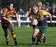 © Peter Spurrier/ Intersport-Images.Photo Peter Spurrier.15/03/2003.Sport - Rugby  National League Div 2 Henley v Harrogate.Dan Smaja running with the ball.
