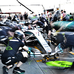 Mercedes AMG Petronas F1 Team practicing pit stops.<br /> <br /> Round 1 - 2nd day of the 2017 Formula 1 Rolex Australian Grand Prix at The circuit of Albert Park, Melbourne, Victoria on the 24th March 2017.<br /> Wayne Neal | SportPix.org.uk