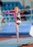 20 Aug 2016:  Caoimhe Maccinna, from Monaghan, performs in the U9 Gymnastics.   2016 Community Games National Festival 2016.  Athlone Institute of Technology, Athlone, Co. Westmeath. Picture: Caroline Quinn